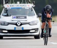 New Zealand cyclist Logan Currie competes in the under-23 men's time trial at the world road...