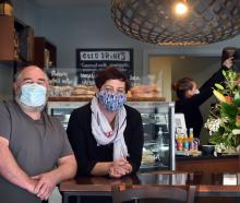 Dunedin couple Ivan Mason and Donna Hall took over their new cafe just two days before the move...