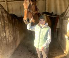 Cooper Stumbles would live in the stables if he could. PHOTO: SUPPLIED