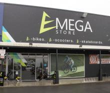 The E-Mega Store on Cranford St. Photo: Geoff Sloan