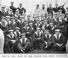 Crew of the French naval sloop Aldebaran, on a visit to Dunedin. — Otago Witness, 1.11.1921   ...
