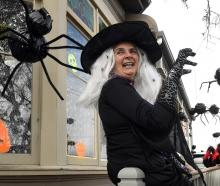 Kirsteen McLay-Knopp has transformed her St Kilda home into a Halloween-lover's heaven. PHOTO:...