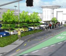 An artist's impression of the new bus hub to be built outside The Palms in Shirley. Photo: Newsline