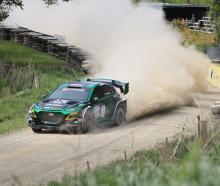 Hayden Paddon debuted his world first Hyundai Kona electric rally car at the Waimate 50 at the...