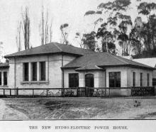 The new Oamaru hydro electric power generator, purpose-built by the Oamaru Borough Council in...