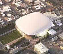 An earlier artist's impression of the Canterbury Multi-Use Arena. Image: Supplied
