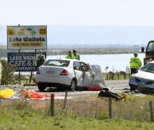 Two people were killed and three people were injured in this incident south of Waihola on...