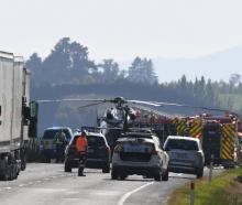 Two women were killed in a crash near Waihola on Saturday. Photo: Stephen Jaquiery