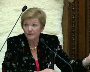National MP Anne Tolley during the Youth Parliament debate. Photo: Parliament TV