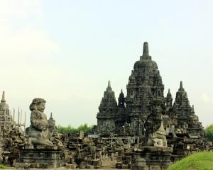 The smaller Candi Sewu Temple sits alongside the magnificent Prambanan Temple complex. Photos by Julie Orr-Wilson.
