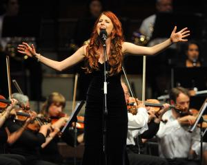 Molly Devine performs in the ''Tally Ho!'' concert with the Southern Sinfonia last year. Photo: ODT.