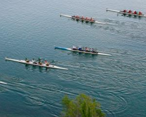 The crews in action at the Cromwell to Clyde Long Distance Rowing Race held at the weekend. Photo...