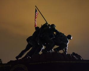 Modelled on a famous news photograph, the Iwo Jima statue is officially the US Marine Corps...