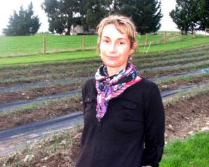 Millers Flat sheep and beef farmer Sarah Macdougall also grows peonies and saffron. Photo: Supplied