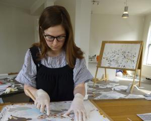 Kushana Bush at work in her Dunedin studio. Photo supplied.