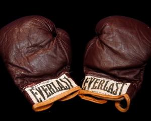 Muhammad Ali's fight worn gloves when he defeated Oscar Bonavena. Photo: Reuters