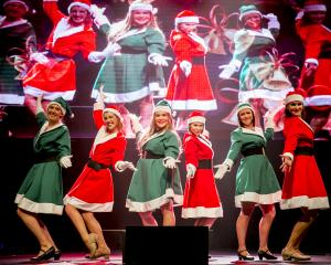 A dance number at the Shotover Jet Christmas Cracker at Queenstown Events Centre yesterday....