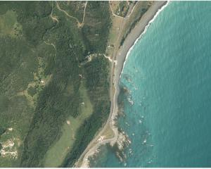 Waipapa Bay, north of Kaikoura before the the November 14 earthquake and aftershocks. Photo: Linz/NZTA