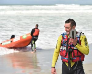 Brighton Surf Lifesaving Club lifeguard Scott Weatherall talks to Otago Regional Rescue...