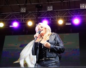 Bonnie Tyler was the first of the headline acts on the stage. Photos Greenstone Entertainment