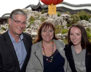 Simon and Elaine Pickford and their daughter Aimee (15) of Dunedin