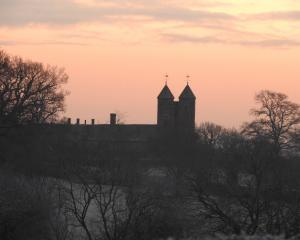 Sissinghurst's famous tower on a misty morning. Photos: Dorril Polley.
