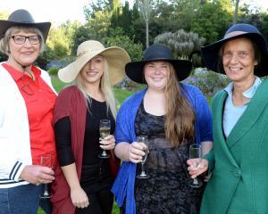 Trish Shaw, Kim Rosenbrock, Libby Tyree-Mobbs and Alison Wadworth, all of Dunedin.