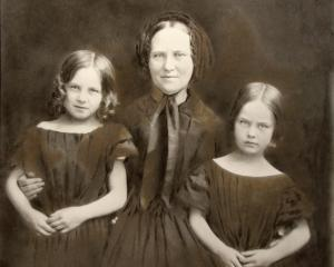Edinburgh widow Mrs Douglas with her daughters Helen (left) and Janet, about 1858.