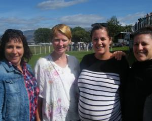 From left: Jan Tairua, of Balclutha, Katy McConnell, of Omakau, Alisha Webster, of Poolburn,...