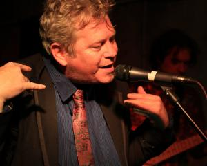 Shane Hollands performs with Freaky Meat at the Penguin Club at the Harbour St Jazz & Blues...