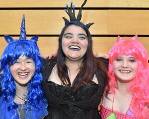 Maria Potapov, Hope Wilson and Tori Barnett, all of Dunedin.