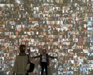 Audio visual installation: 'Hello World!' by Christopher Baker. Photo: Reuters