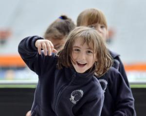 Leva Courtney (6), of Carisbrook School. Photos: Gerard O'Brien.
