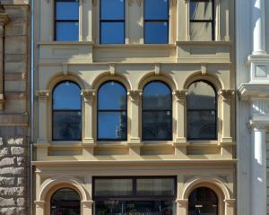 Ted Daniels' award-winning Standard Building in Princes St, Dunedin. Photo: Gerard O'Brien.