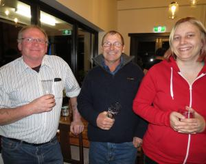 Enjoying the opening of new-look Faigan's Cafe and Store at Millers Flat on Saturday night, are ...