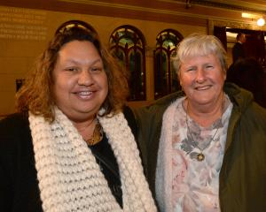 Maria Kewene-Edwards (left) and Lyn Revie both of Dunedin