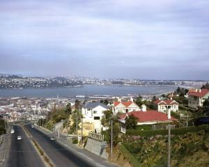 The view of Dunedin from the Roslyn Bridge, circa 1962. PHOTO: ISOBEL BOUMAN.