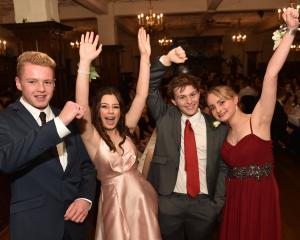 From left Jesse McKersey (16) of Logan Park High School, Emily Paine (17) of OGHS, Owain Harker ...