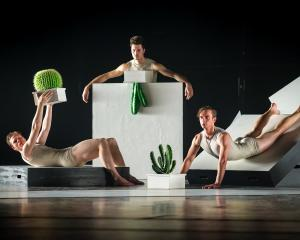 Jacob Chown, Emanuele Chiesa and Fabio Lo Giudice in Cacti. Photos: Stephen A'Court