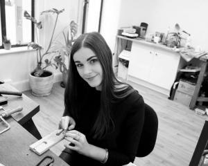Rebecca in her Melbourne studio