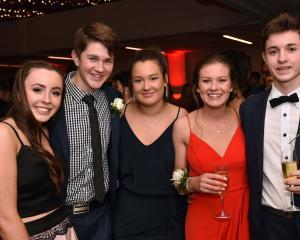 Ella Woods (16) of Kavanagh College, Tom McCallion (16) of Kings High School, Sadie Bleach (16) of Kavanagh College, Lilly McKewen (16) of Kavanagh College and Jack Kubala (17) of Kavanagh College