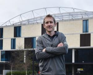 University recreation service manager Daniel Porter outside the Unipol building. Photos: Peter...