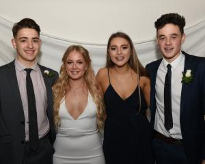 Liam Ayson (17), of King's High School, Olivia Clough (18), of Dunedin, Amber  Adams (17), of  St...