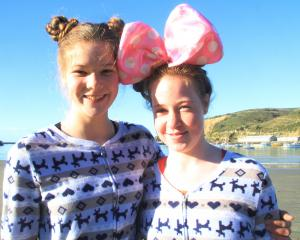 Amelia Wilkinson and Hayley Sim (both 12), both of Oamaru.