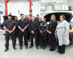 Armstrong Prestige service team from (from left) Dale, Sam, Mason, Stefan, Will, Ryan, Danny,...