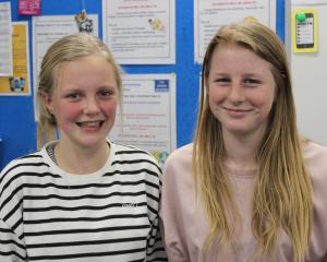 Jenna McFadgen (14) and Greer Orchard (14), both of Roxburgh