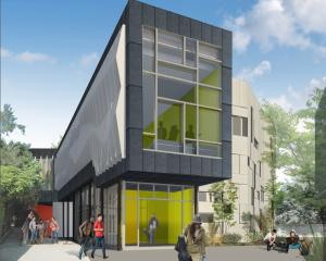 The proposed University of Otago music, theatre and performing arts building to be built on Union St East. Image: Supplied