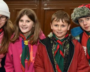 From left Sylvia Lott (14) Mel Reid (11) Myles Lott (9) and Bryce Lott (12) all of Dunedin