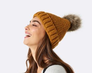 New Gerri pom pom beanie, $24.99. Photos: Supplied