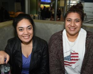 Grace Fuatavai (18) (left), and Iona Peni (20), both of Dunedin.